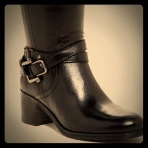 Mark Fisher Wide Calf Kacee Leather Riding Boots